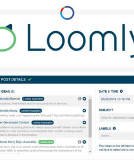 Loomly social media marketing management tool